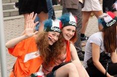 Киевская фан-зона становится модным местом отдыха