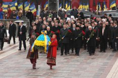 Державні заходи до Дня Соборності та Свободи України - Покладання квітів до пам'ятника Тарасу Шевченку