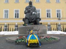 Державні заходи до Дня Соборності та Свободи України - Покладання квітів до пам'ятника Михайлу Грушевському