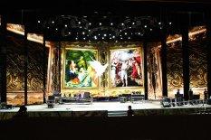 Подготовка Дворца Украина к праздничному концерту в честь 1025-летия Крещения Киевской Руси